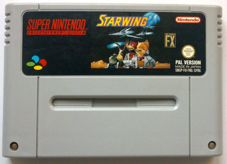 Rare Original SNES Starwing game (PAL 1993)