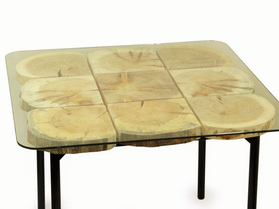 Organic handmade whitewashed square dining table by FreeTreeStudio | see more at https://www.etsy.com/shop/FreeTreeStudio
