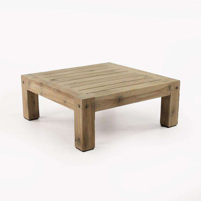 Lodge Outdoor Distressed Teak Coffee Table | Design ...
