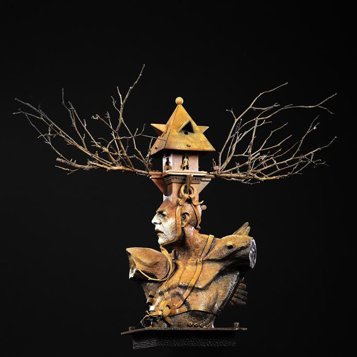 """Ted Gall """"House of Wisdom,"""" Bronze, Large 2014 - Available at Hunter Kirkland Contemporary"""