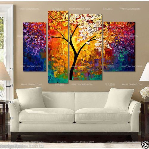 beautiful-Large-canvas-no-frame-Modern-Abstract-Art-Oil-Painting