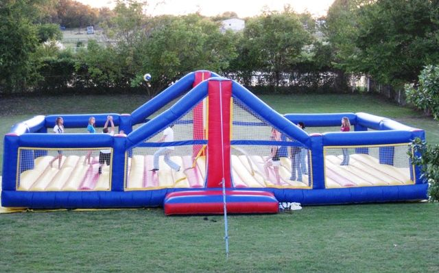 Bounce Volleyball Court. This would be awesome!! Play with a beach ball. Me and my friends against my family. Awesome