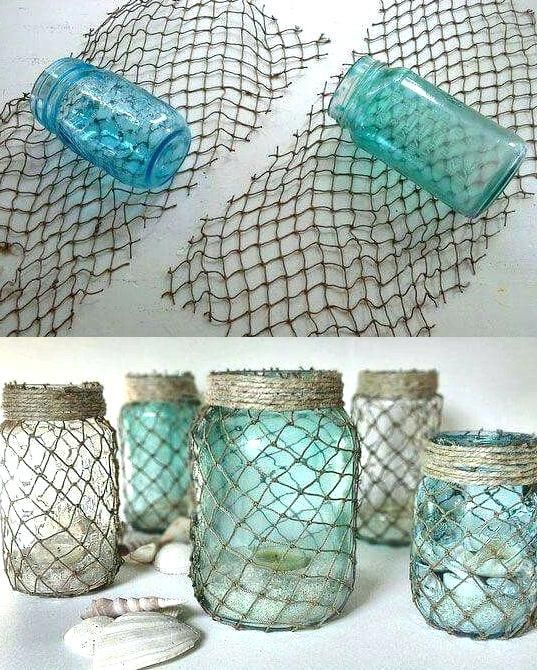a4a47f076b991 nautical fish net decor best ideas on beach room authentic recycled fishing  netting decorative fishnet decorating for small bathrooms a budget