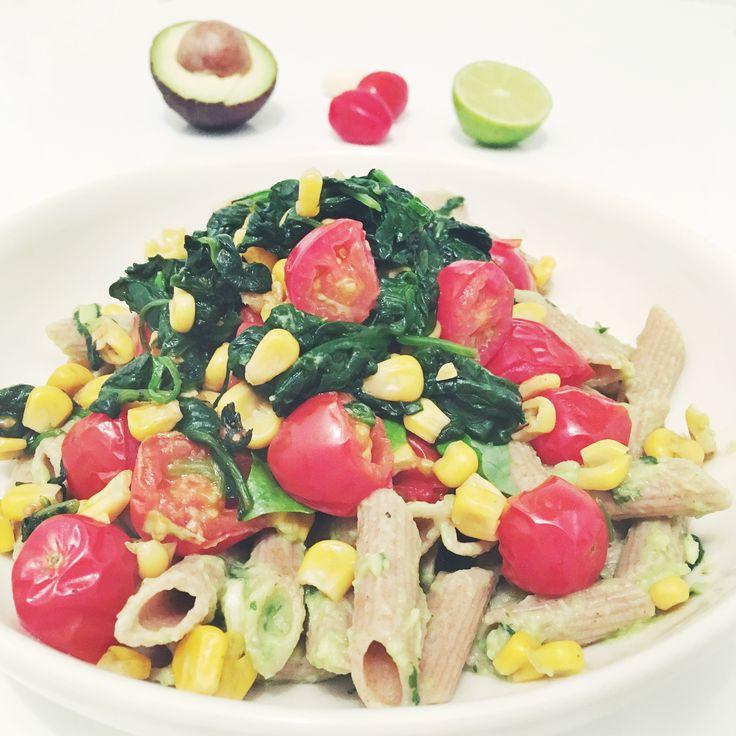 Romige avocado pasta (vegan)
