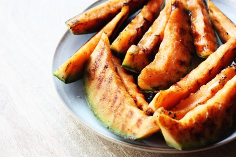 Made this for our 4th of July feast tonight and it was incredible! Just cantaloupe and season salt. Toss on the grill, a couple minutes on each side.