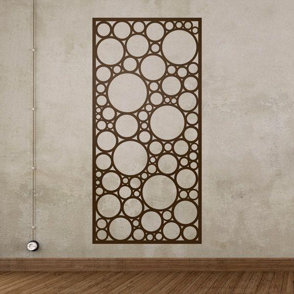 Lámina estampado abstracto de círculos - VINILOS DECORATIVOS