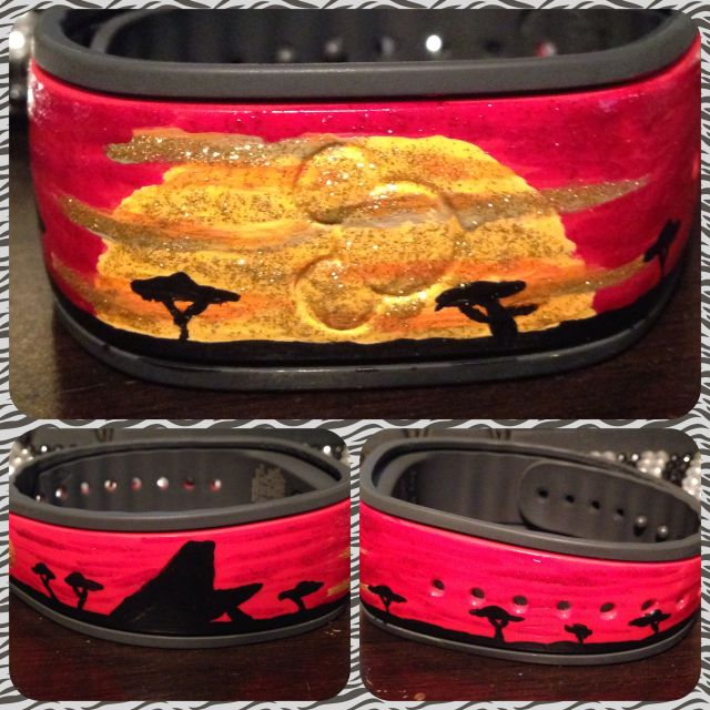 The DIS Discussion Forums - DISboards.com - View Single Post - Has anyone decorated their Magic Bands? Please show us the pictures!
