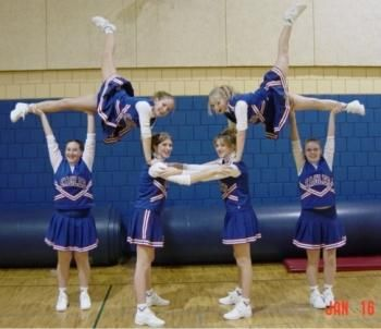 List of easy stunts... Perfect for Jr. Rams Cheer Camp!