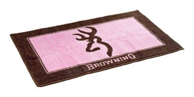 Browning Buckmark Pink and Brown Bath Mat