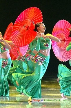 Chinese Umbrella Dance. Umbrellas are fun to dance with.