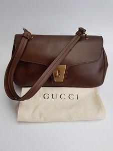 ad855d445cb GUCCI Bag. Gucci Vintage Brown Leather Shoulder Bag . Italian Designer Purse  - Tom Ford era.