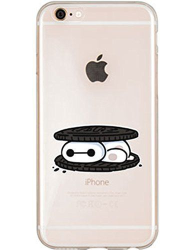 Big Hero 6 Baymax as an Oreo Cookie (AWH) Super Slim Clear Phone Case for Iphone 5s/ iPhone 6/ iPhone 6 Plus