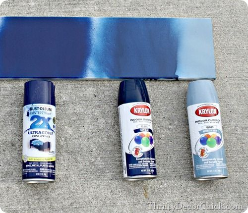 spray paint reviews: At the risk of sounding like a Rustoleum commercial, it covered SO much better. (I did two coats of each color).