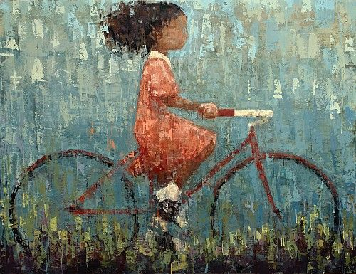 $10,600 Bicycle No. 7, 46 x 60,  Oil