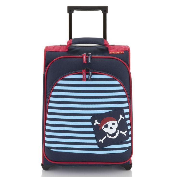 Bunter #Kinderkoffer travelite Younster bei Koffermarkt: ✓Motiv Pirat ✓2 Rollen ✓inklusive Reisetasche ✓leicht: nur 2,3 kg  ⇒Jetzt kaufen