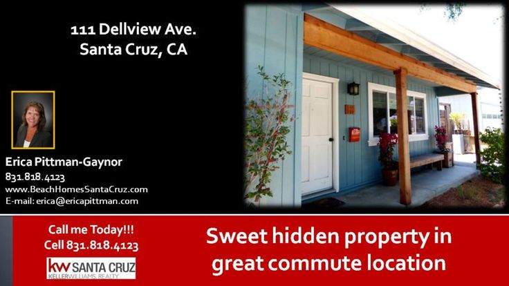 Homes in Santa Cruz  https://gp1pro.com/USA/CA/Santa_Cruz/Santa_Cruz/111_Dellview_Ave.html  Homes in Santa Cruz - Amazing location, close to the Highway but you would never know. Natural light, hardwood floors, updated kitchen with bonus room used for the twins playroom. Could be an office, family room, workout area, etc. Great backyard with firepit, fountain, oversized raised planter box, chicken coop, fruit trees and more. Loads of sun and end of the cul de sac so no through traffic. Only…