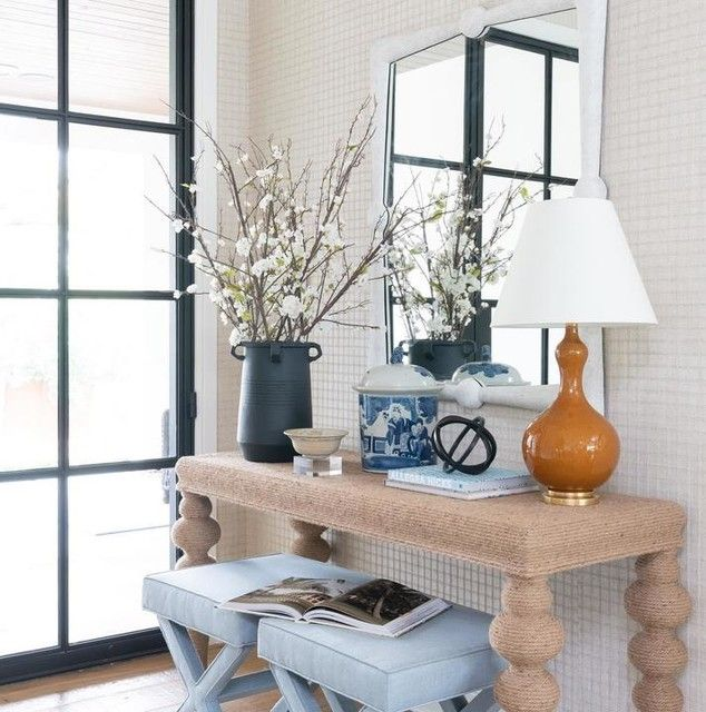 Wallpaper Contemporary Living Room Design Table Lamp Design Blue Console Table