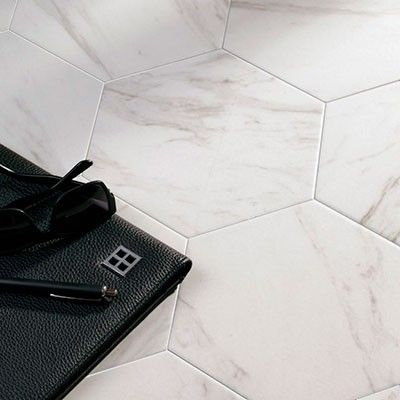 17 meilleures id es propos de carrelage imitation pierre for Carrelage hexagonal marbre