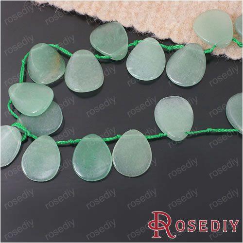 17 * 13 мм естественная нефрит Dongling зеленый авантюрин капля воды бусины примерно 25 штук ( JM5579 )
