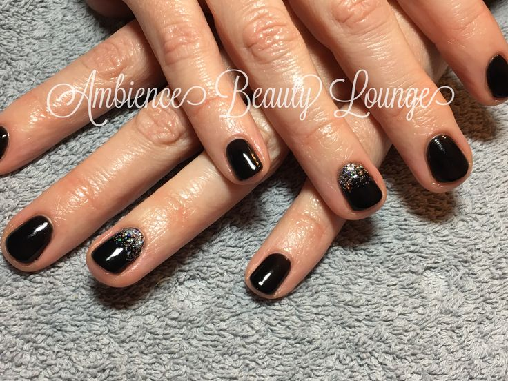 Gelish Black Shadow and Am I making you gelish accent Nail