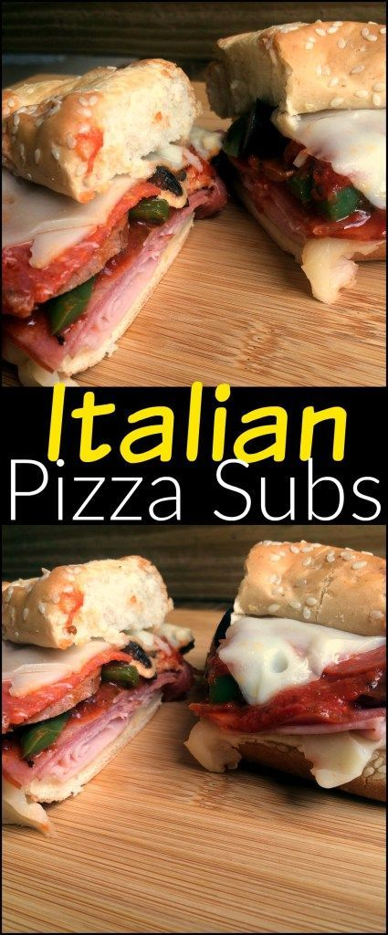 These Italian Pizza Subs are TO DIE FOR good!  Probably our favorite sandwich on earth!  So hearty and delicious and packed full of flavor!