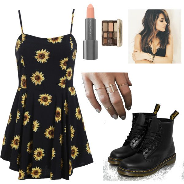 Soft Grunge by keepitautumnnn on Polyvore featuring polyvore fashion style Too Faced Cosmetics Easy Spirit Dr. Martens