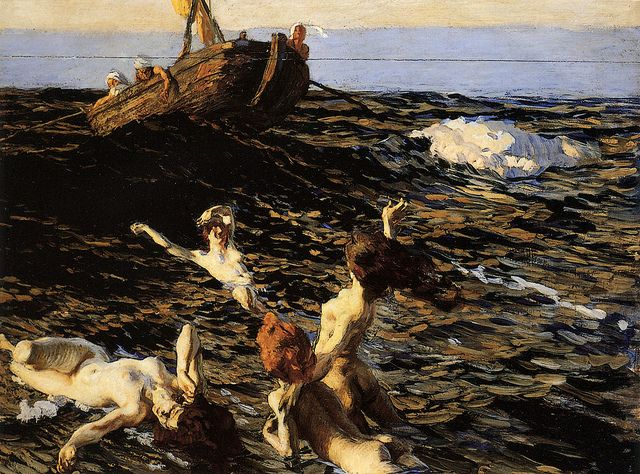 "Ettore Tito (Italian, 1859-1941), ""The Siren's Call"" by sofi01, via Flickr"