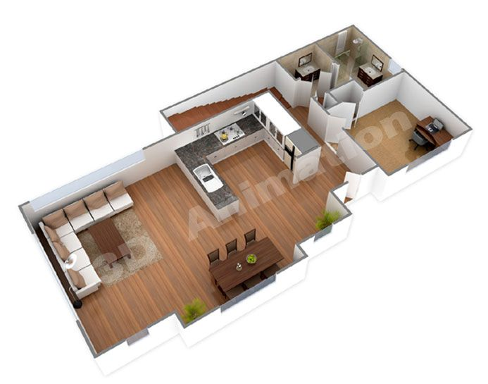 Good 3d house blueprints and plans with 3d house plans for Small house design 3d