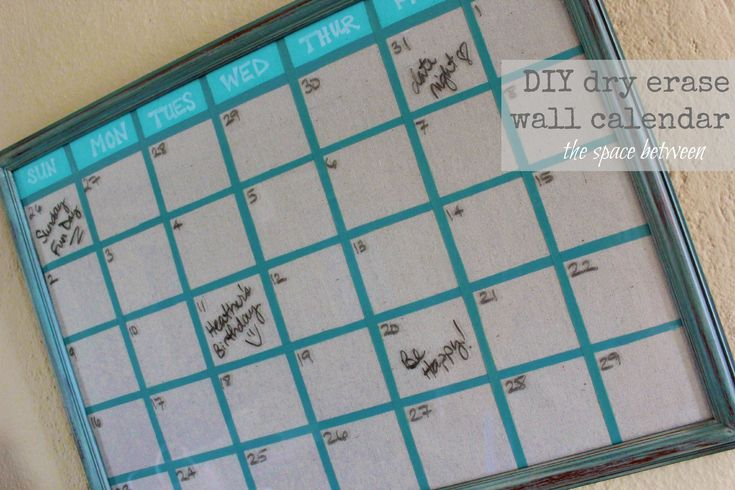 Homemade Calendar Cover : Ideas about dry erase wall on pinterest