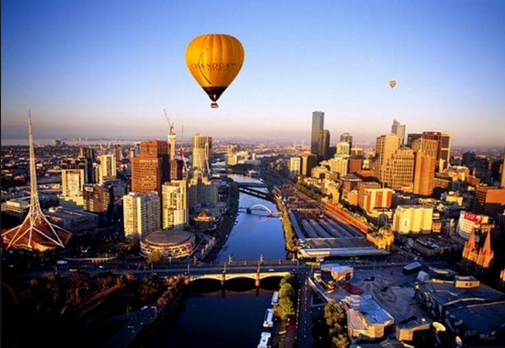 Hot Air Balloon Ride Over Melbourne, Australia. The Idea of visiting Melbourne alone makes me giddy but to go in a Hot Air Balloon ride over it makes me want to scream. This is definitely one of my must do's!