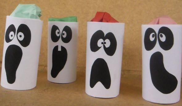 Idea paso a paso para hacer estos divertidos cotillones de fantasmas de Halloween AQUI ==> http://ideasparadecoracion.com/fantasmas-con-sorpresas/