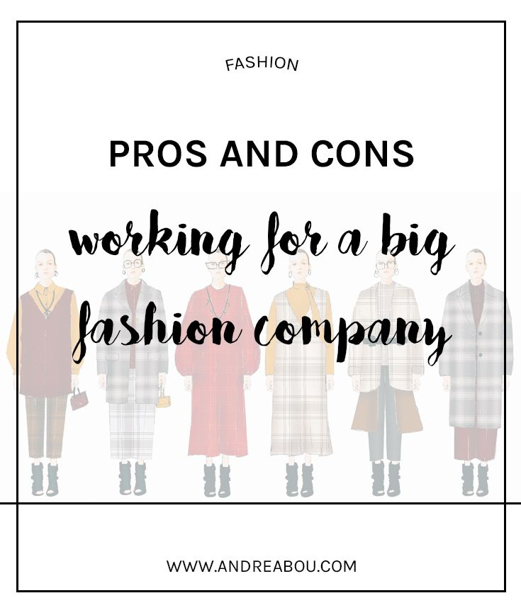 Pros And Cons Working For A Big Fashion Company