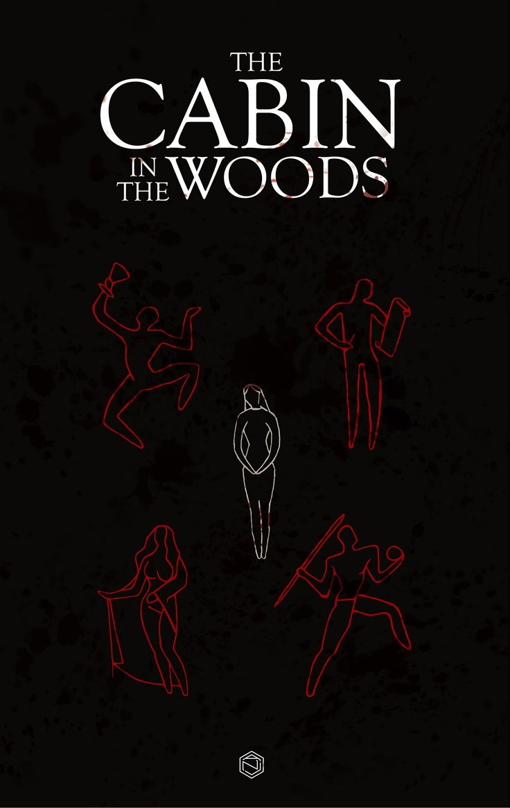 The Cabin In The Woods 2012 Minimal Movie Poster By