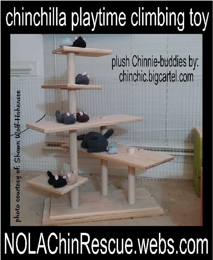 Chinchilla playtime climbing toy by NOLA Chinchilla Rescue