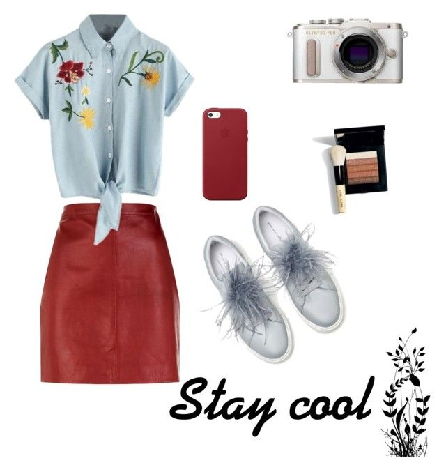 """""""Stay Cool MDS"""" by dorothysmile ❤ liked on Polyvore featuring Sandro, PL8, Bobbi Brown Cosmetics and Apple"""