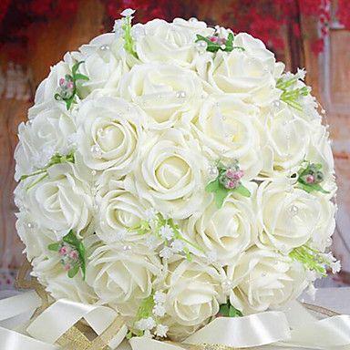 un+bouquet+di+30+rose+pe+simulazione+wedding+bouquet+di+nozze+della+sposa+azienda+fiori,+bianchi+–+AUD+$+34.31