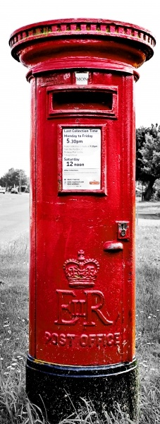 Postbox. Royal Mail. Letters. Happy Mail. Stamps.