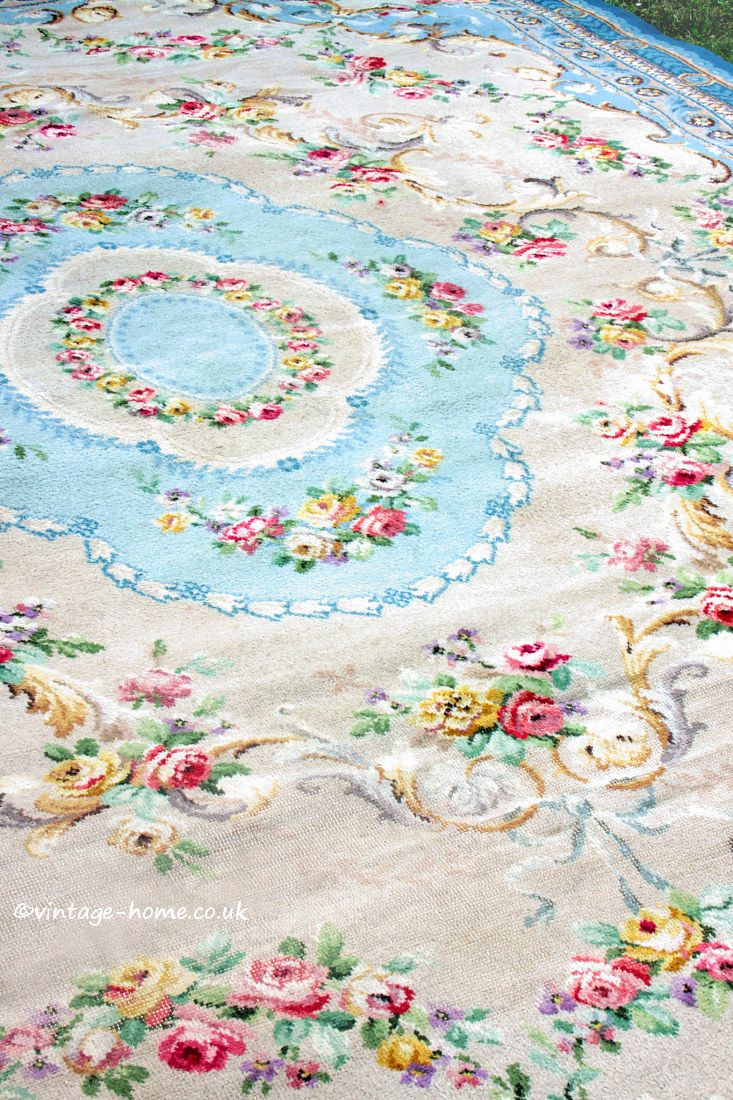 Groovy Vintage Home Shop Beautiful 1930S Rose Garland Aubusson Home Interior And Landscaping Synyenasavecom