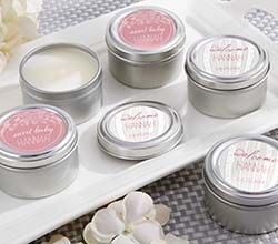 Personalized Travel Candle - Kates Rustic Baby Shower Collection