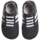 Baby Boys Navy Blue Leather Trainers