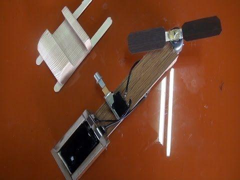 Como hacer un Ventilador de bolsillo casero - YouTube