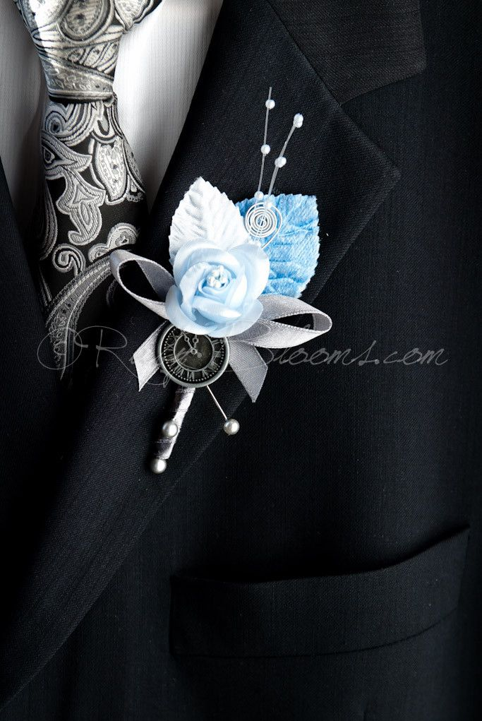Unique, Elegant and Stylish Wedding Boutonniere - Designed for Groom, Best man, Prom, Ring bearer and any member of Your Special Event Party! It is easily secured with a pin. • Product: Velvet Leaf Pe