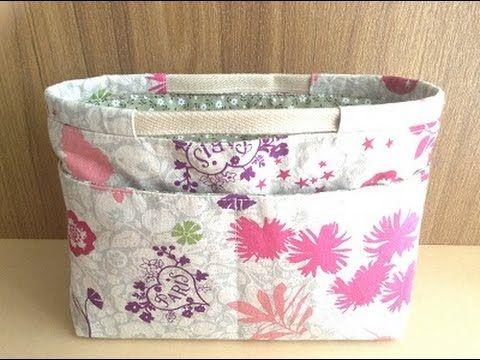 (330) バッグインバッグの作り方 How to make a bag in bag - YouTube
