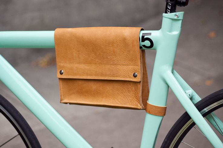 Leather Bike Pouch - Saddle Brown.