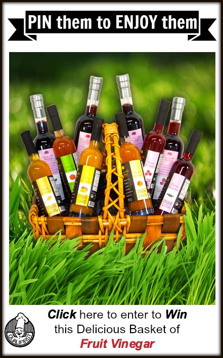 Re-Pin this and click on the pic to enter to win this basket of delicious #fruit #vinegar.