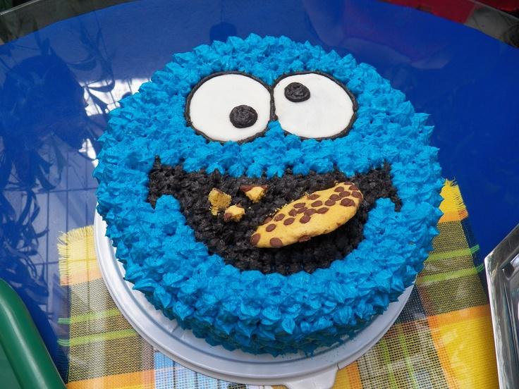 Cookie Monster Torta De Chocolate Blanco Con Chispas De