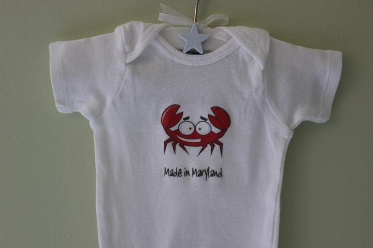 Maryland Crab Baby Clothes