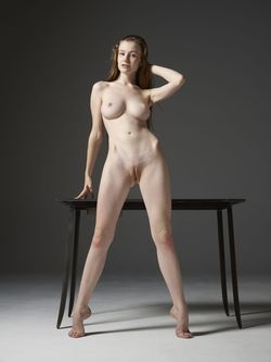 Emily Bloom Hot Pussy on the Table - pics 15