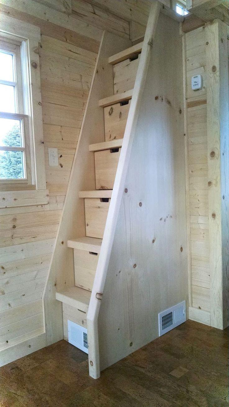 Escalier En Bois Avec Rangement 10 inspirations tiny house - oganisation, rangements