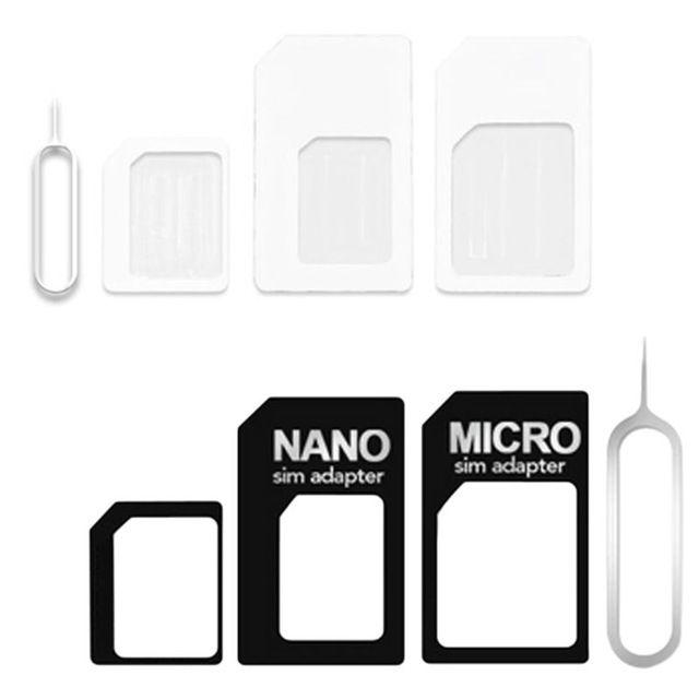 Amazon Com 5 In 1 Metal Sim Card Adapter Nano To Micro Nano To